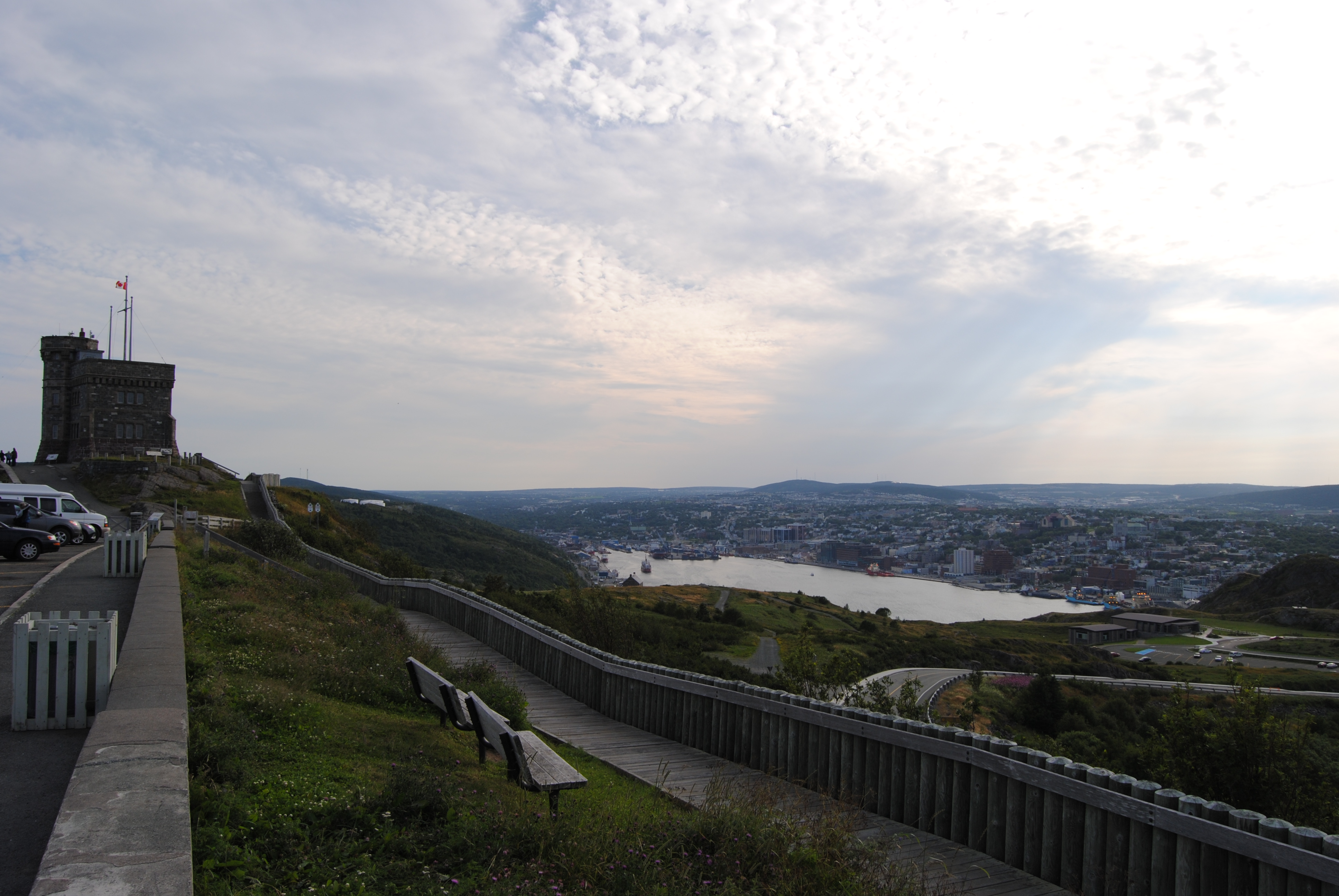 Signal Hill and St. John's in the distance.