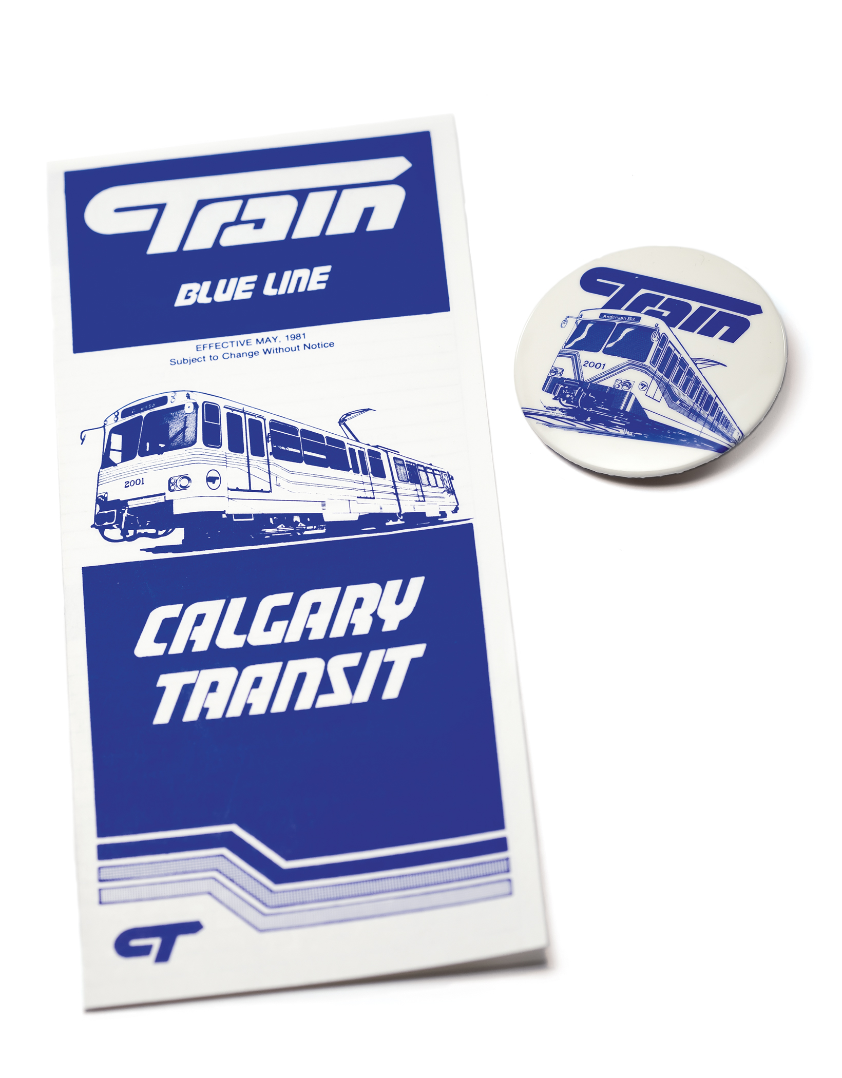 CTrain Timetable and promotional material, Calgary, 1981