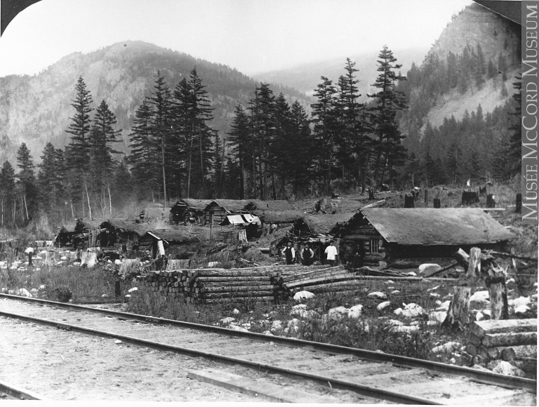 Chinese camp opposite Keefer Station, BC, 1889-90.