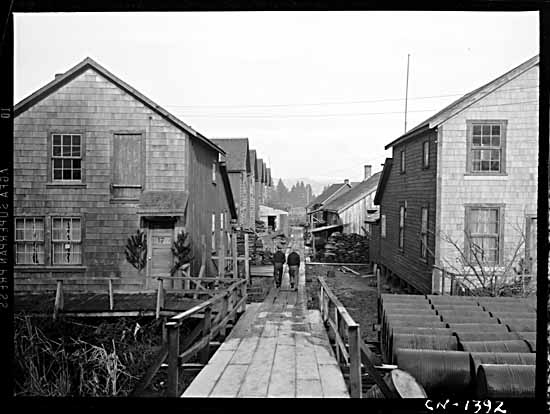 Maisons de Canadiens japonais à Steveston (Colombie Britannique), 1942.