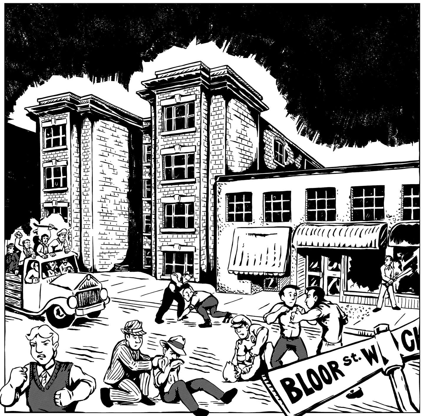Artistic depiction of the riot