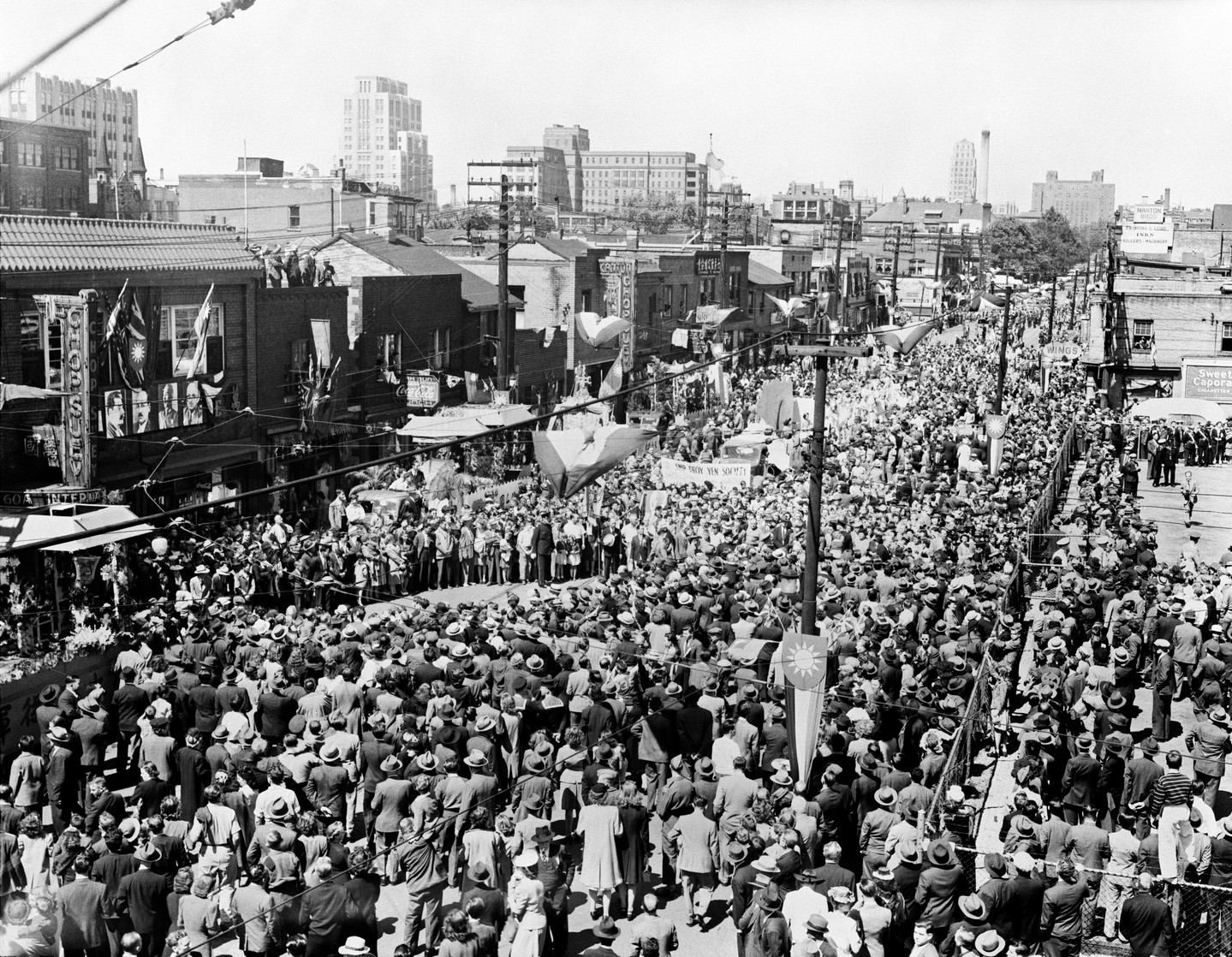 VJ-Day Parade in Chinatown, 1945