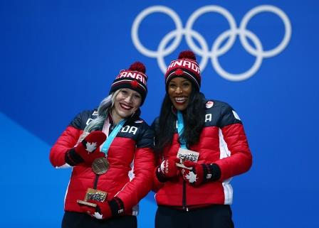 Kaillie Humphries and Phylicia George, PyeongChang 2018