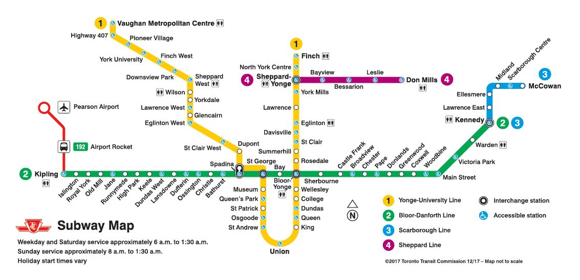Toronto Subway Map Union Station.Toronto Subway The Canadian Encyclopedia