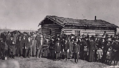 Settlers of the Falher, Alta, District, 1912