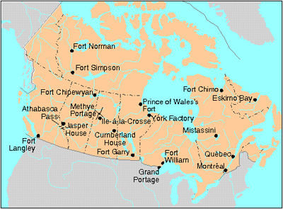 Map Of Canada Fur Trade.Fur Trade In Canada The Canadian Encyclopedia
