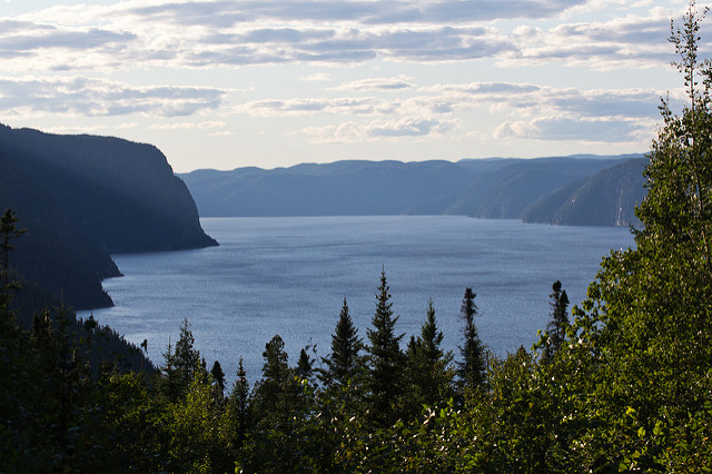 View over the Saguenay Fjord
