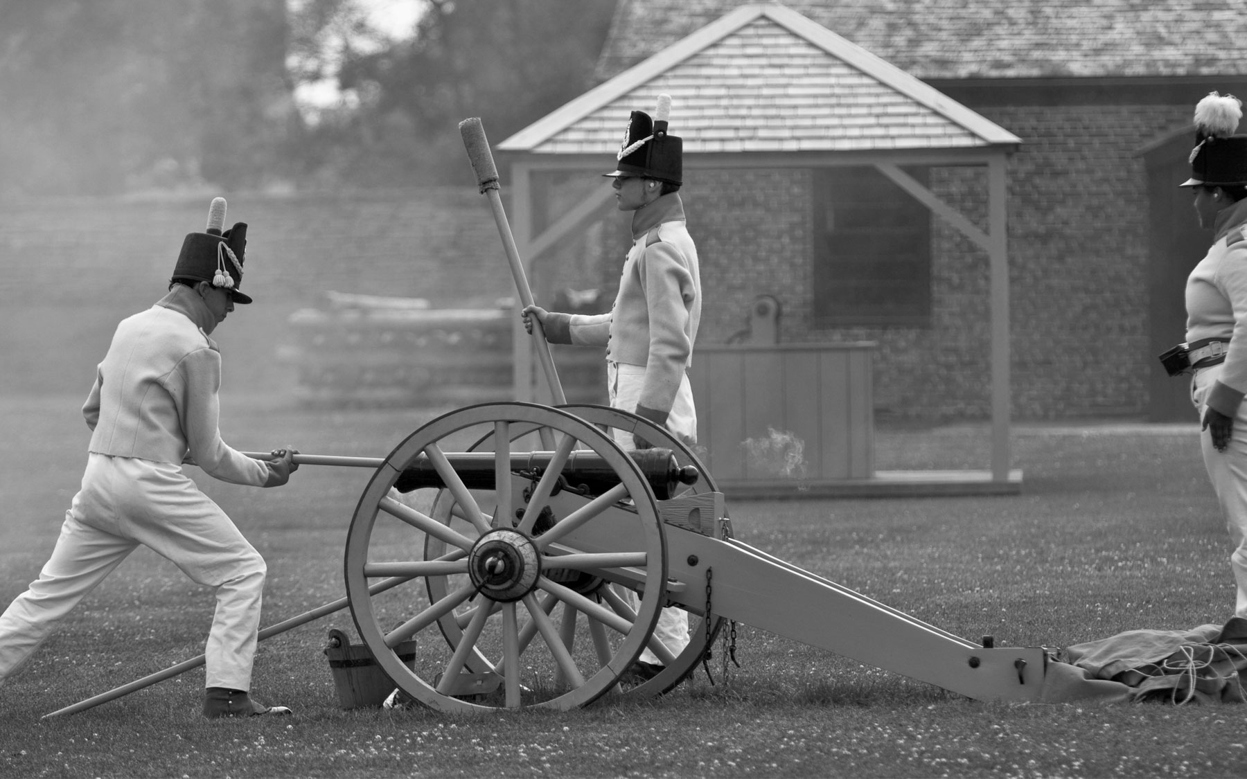 Re-enactment at Fort York National Historic Site, 2010.