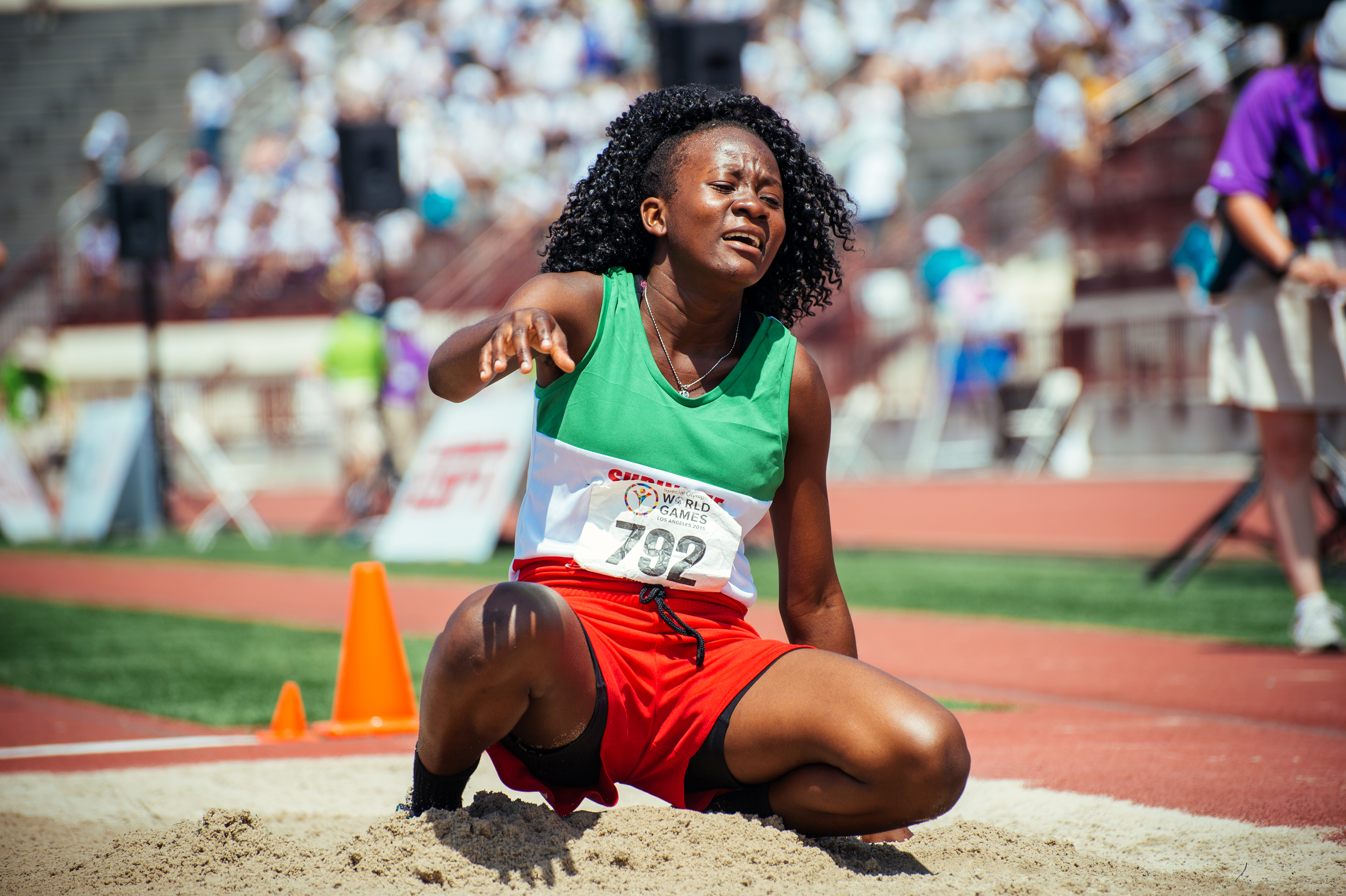 Long jumper, Special Olympics World Games 2015