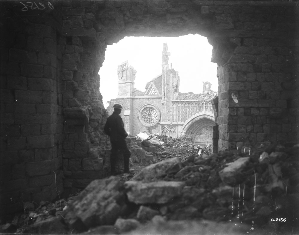 A Canadian soldier in Ypres, Belgium