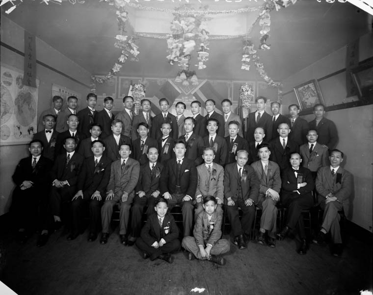 Chinese Freemasons in Toronto, ON., 1930.