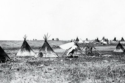 Assiniboine, campement