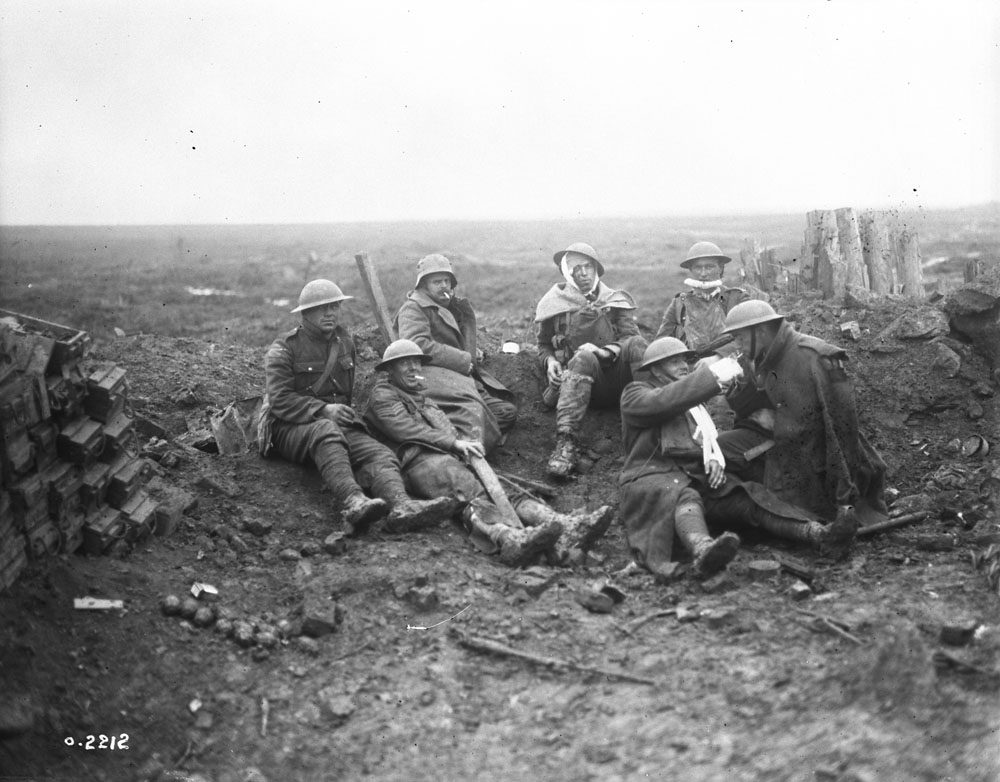 Wounded at the Battle of Passchendaele