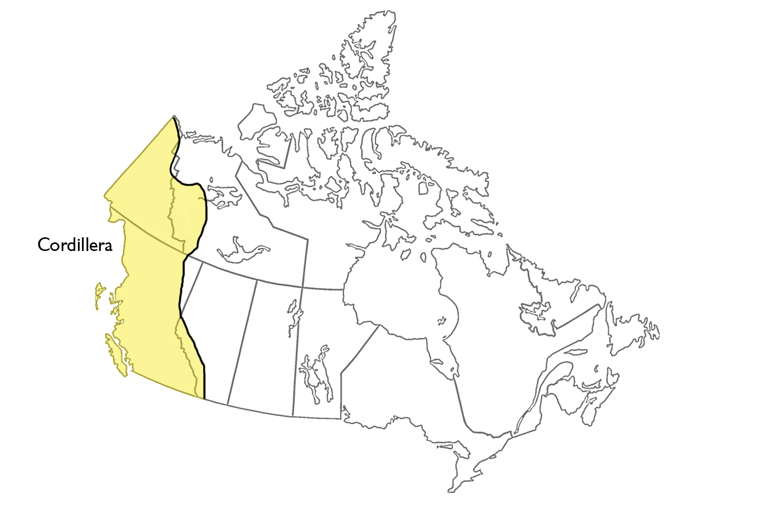 Map Of Cordillera Region Canada Cordillera | The Canadian Encyclopedia