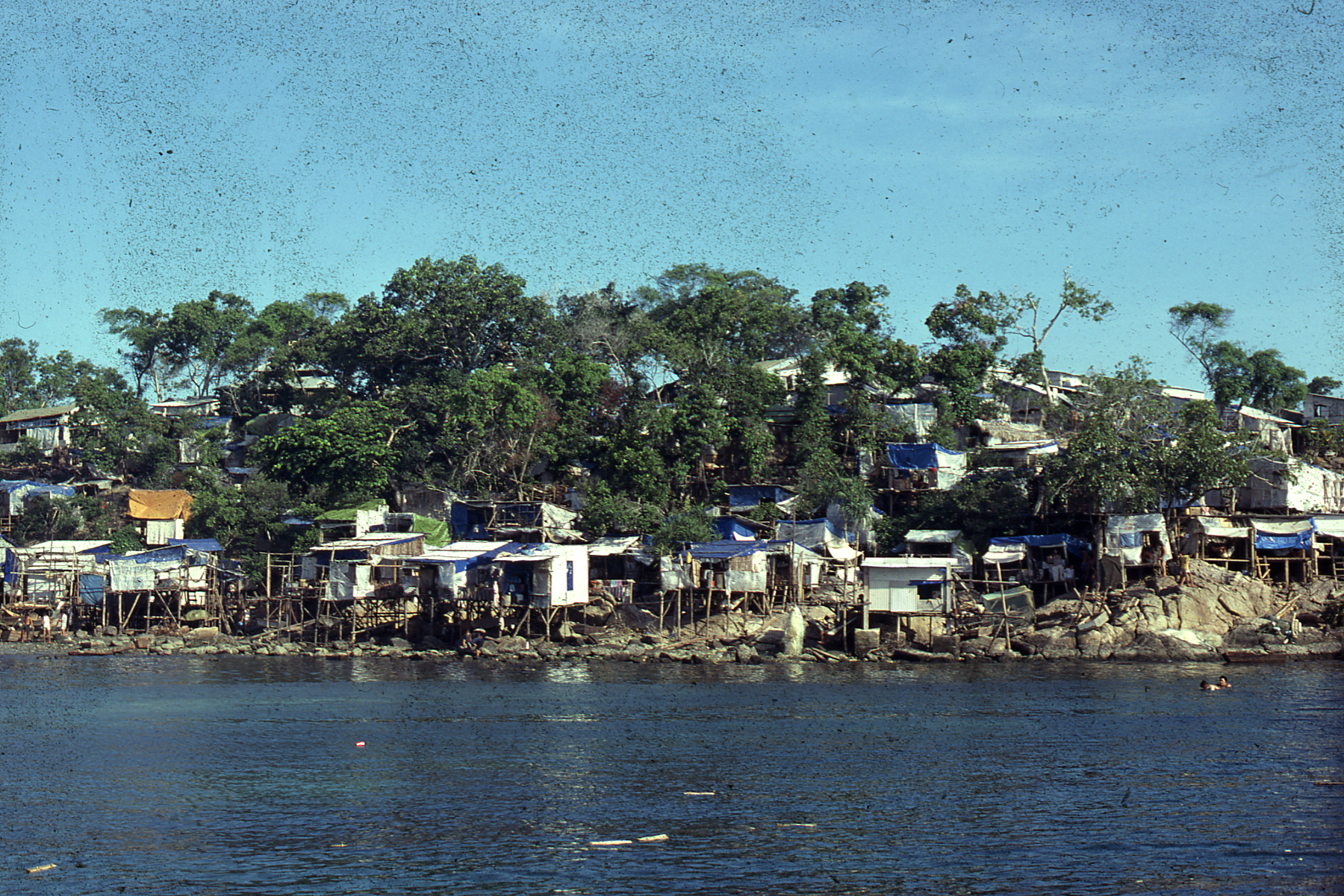 Bidong, Malaysia, seen from the sea, October 1979