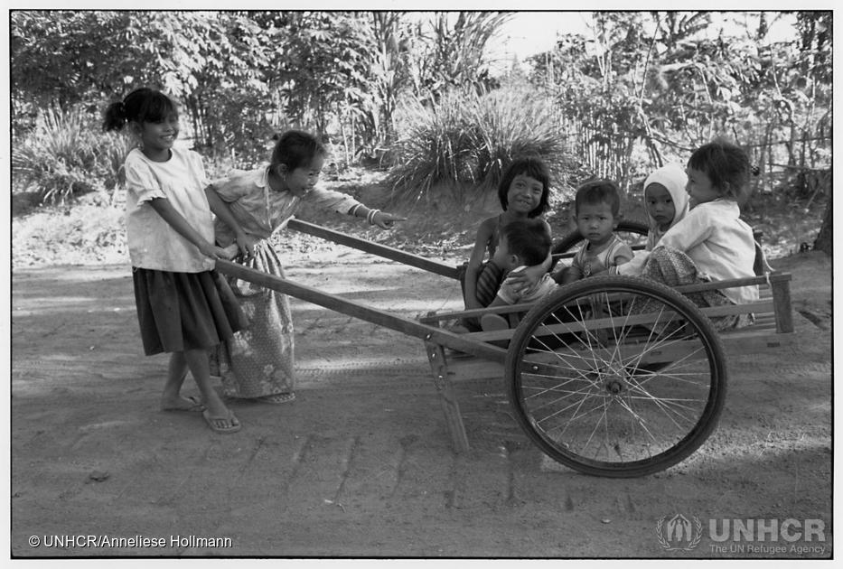 Cambodian refugees in Khao I Dang camp, Thailand, 1988