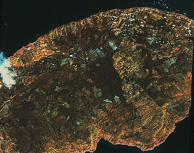 Gaspé Peninsula, Satellite Image