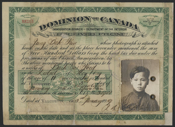 Chinese Head Tax in Canada