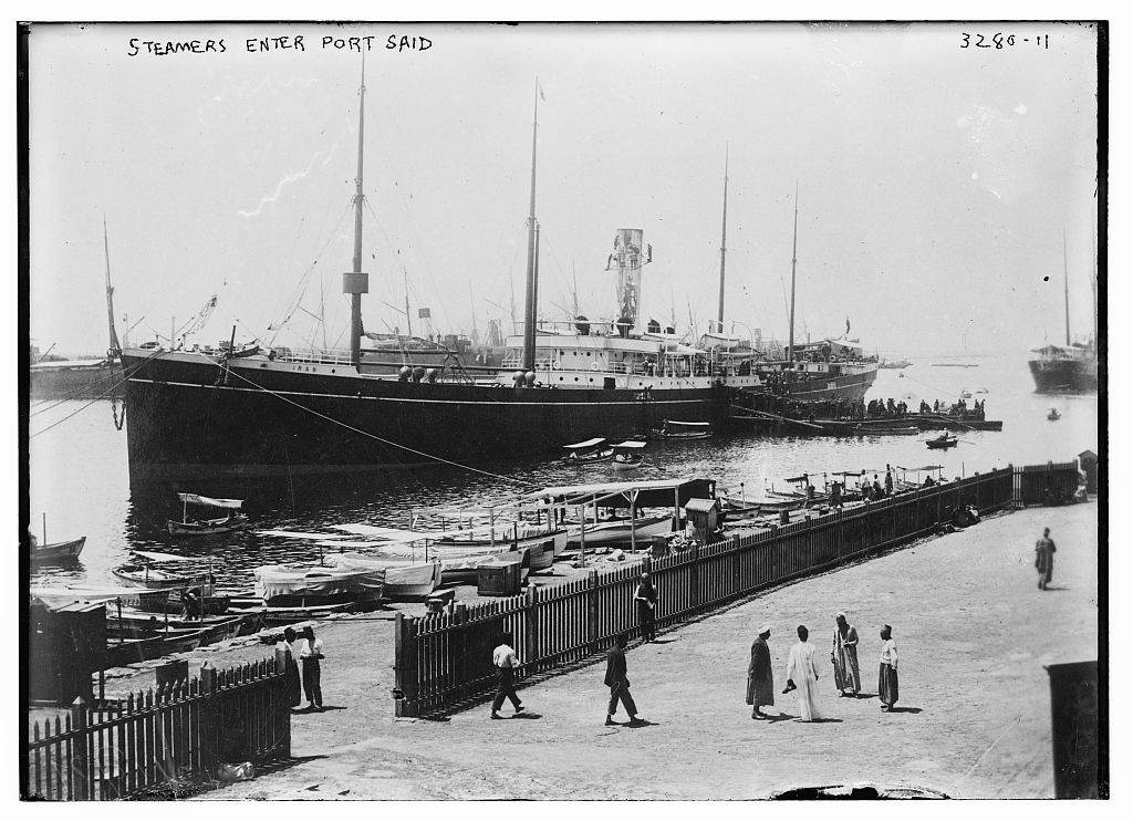 At Port Said in Egypt,  ca. 1910-1915.