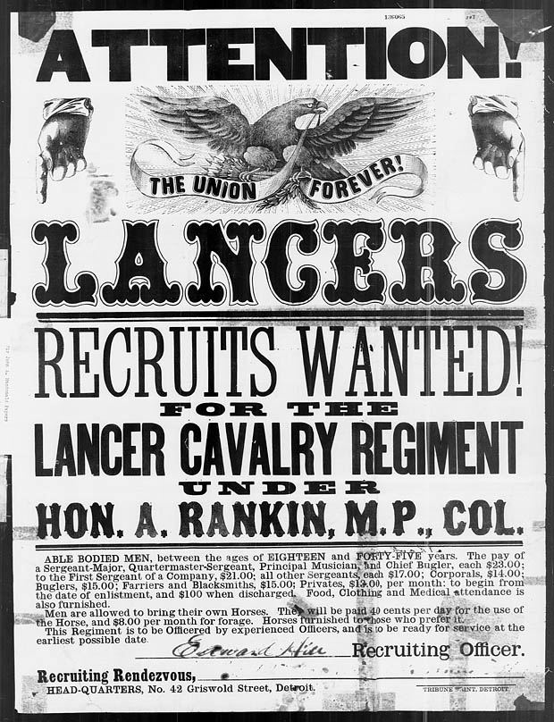 American Civil War Recruiting Poster