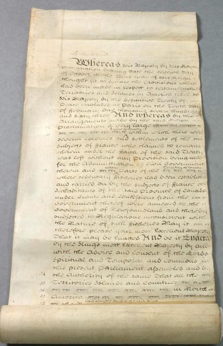 Quebec Act 1774 Document