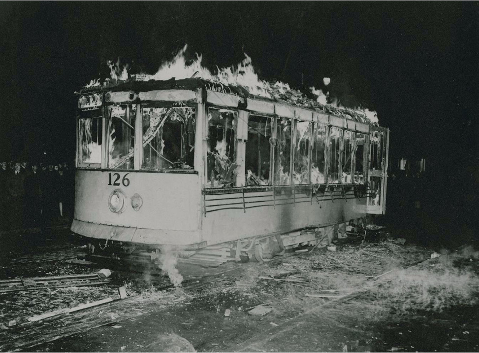 Damaged Tramcar