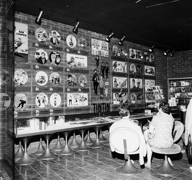 Interior of Belgium Pavilion - Exhibit of cartoon Tintin at Expo 67