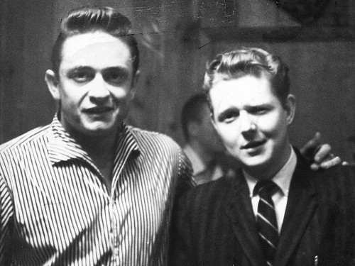 Johnny Cash and Red Robinson, 1959.