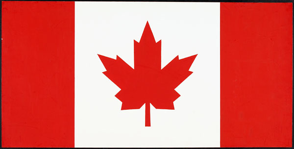 Final Flag Design Selected from Group B by the Canadian Flag Committee.