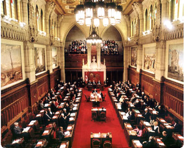Image result for Canadian Senate chamber