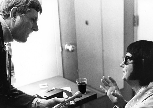 Red Robinson interviewing Roy Orbison, 1968.