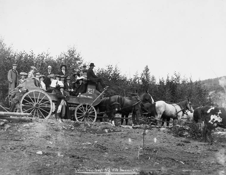 Labour Day parade in Dawson City, Yukon in 1906.