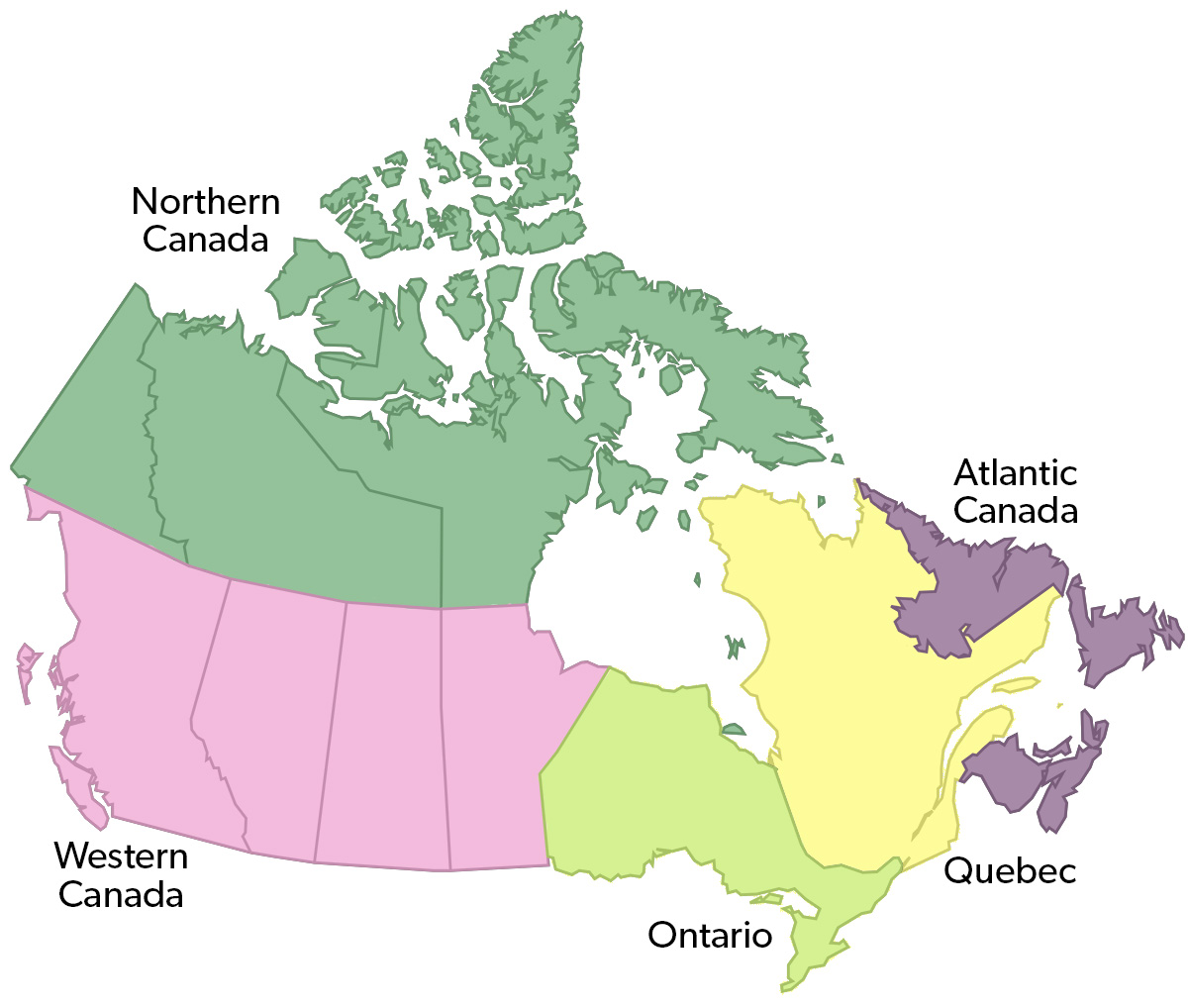 Regional Map Of Canada.Regional Economics In Canada The Canadian Encyclopedia