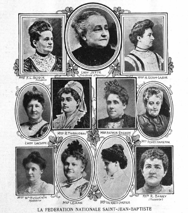 First presidential board, Fédération nationale Saint-Jean-Baptiste, 1907