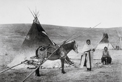Tsuut'ina Travois and Tipi