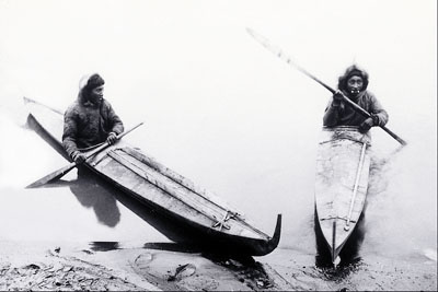 Inuit in their Kayaks