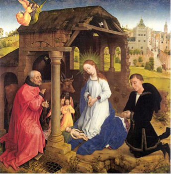 Middelburg Altarpiece, Nativity Scene