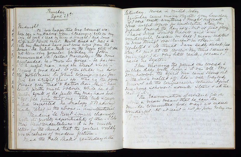 Diary of Lady Macdonald, 23 April 1868