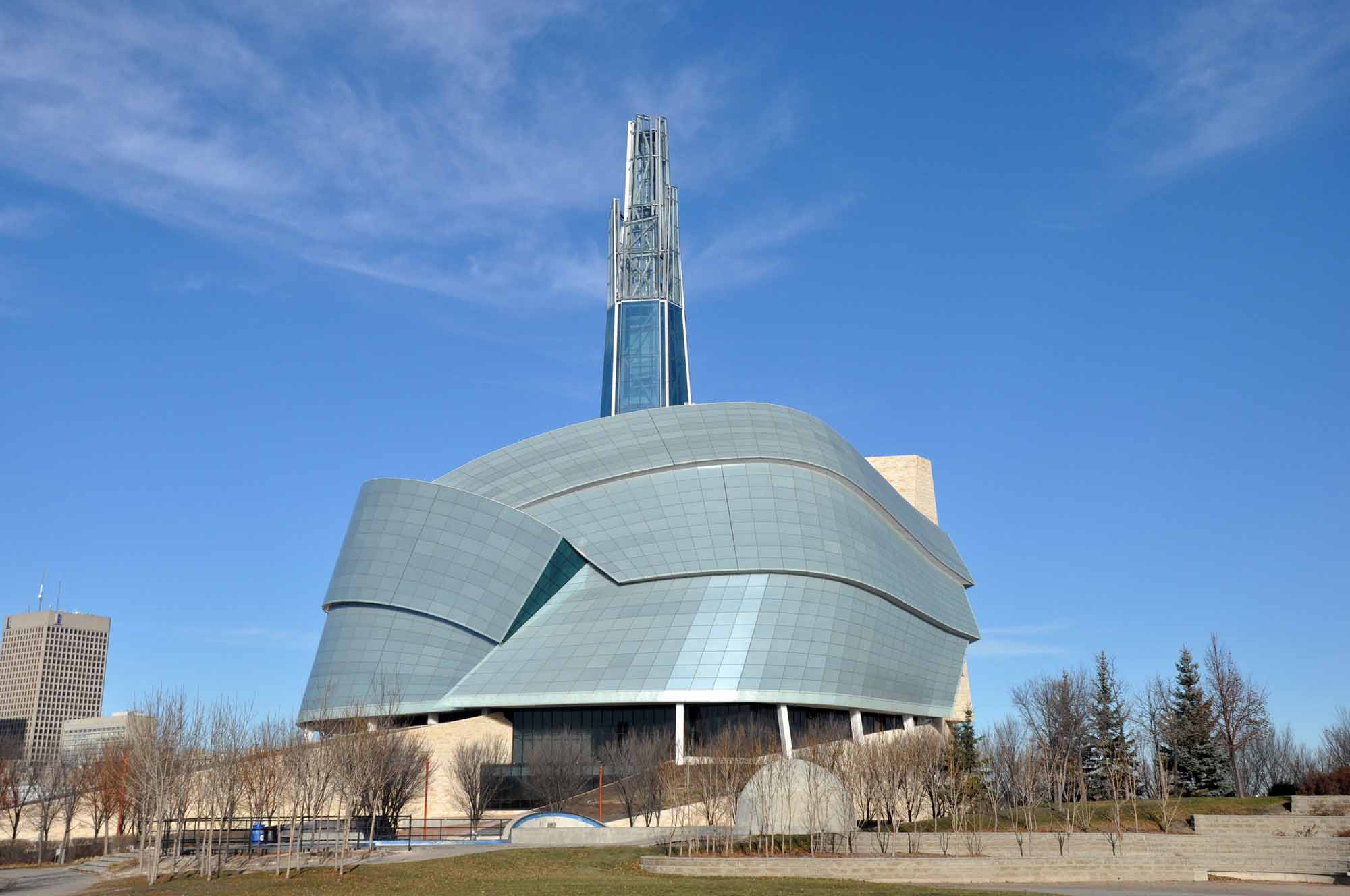 The Canadian Museum for Human Rights in Winnipeg, Manitoba.