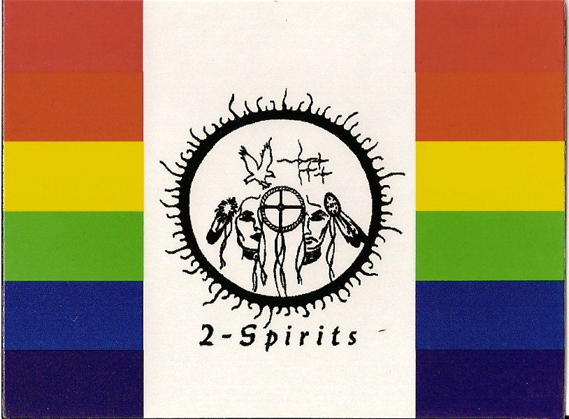 Flag representing 2 Spirits people of the 1st Nations