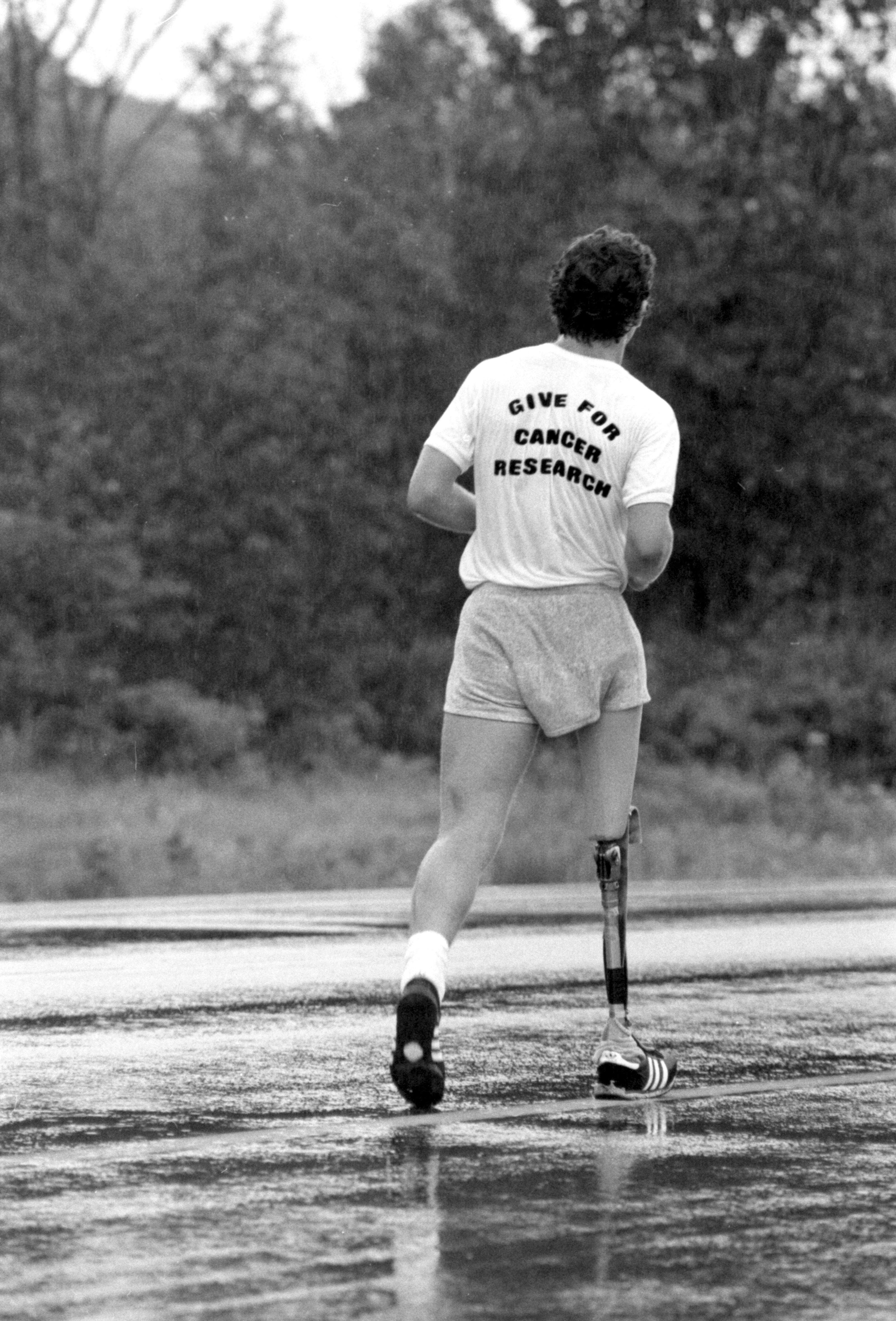 Terry Fox durant son marathon