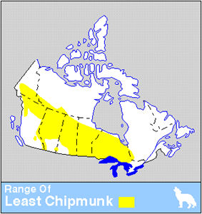 Least Chipmunk Distribution
