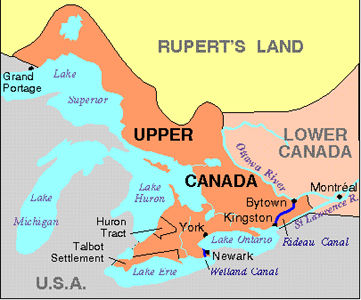 Map of Upper Canada Canada