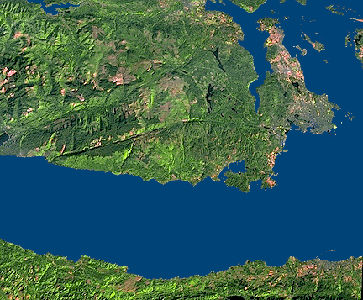 Saanich Peninsula, Satellite Image