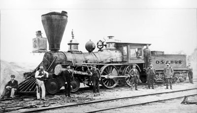 Toronto, Engine No 2 on the Ontario, Simcoe and Huron Railroad