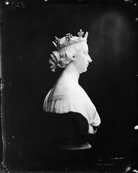Bust of Queen Victoria, in profile, sculpted by William James Topley