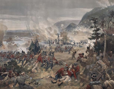 Le mort de sir Isaac Brock, la bataille des Hauteurs de Queenston