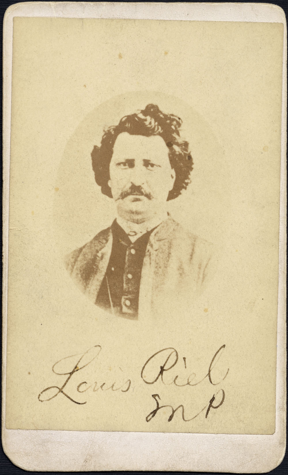 Carte-de-Visite Portrait of Louis Riel