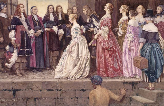 Arrival of the Brides (Filles du roi)