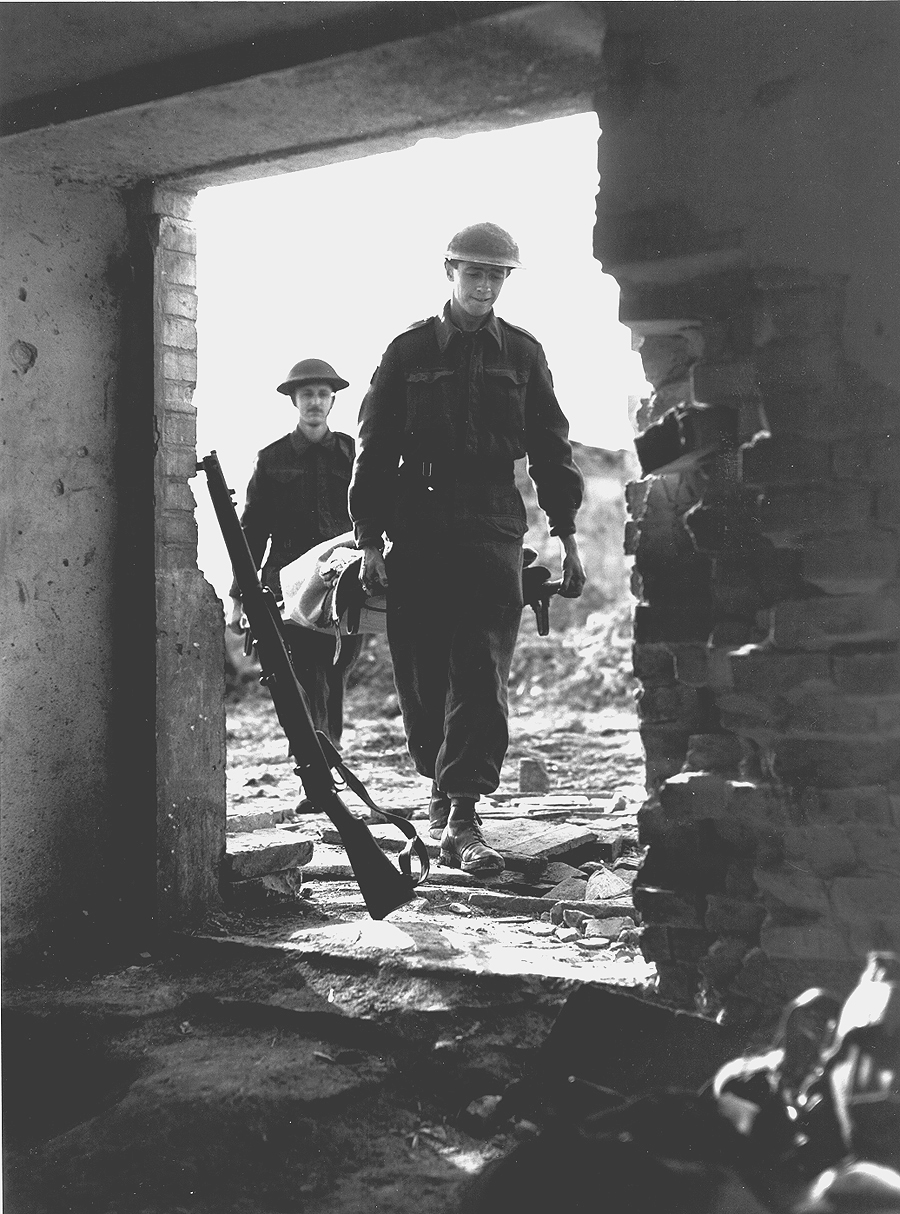 Evacuation of wounded, Ortona, Italy, January 1944